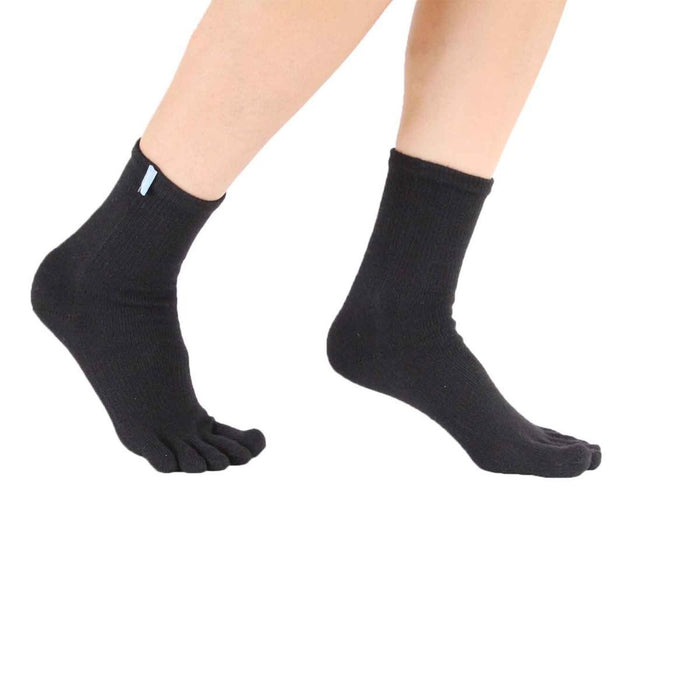 ToeToe Sport Running Socks OVER Ankle - Black