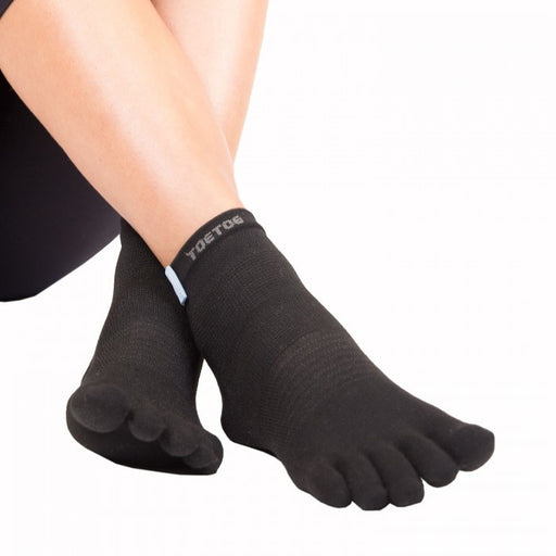 ToeToe Outdoor Sport Liner Socks OVER Ankle - Black