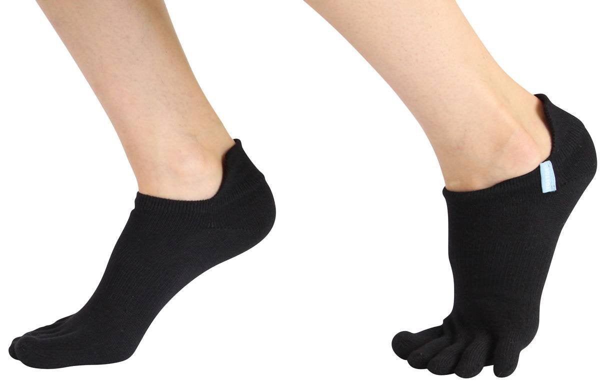 ToeToe Sport Running Socks Under Ankle - Black