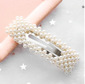 Fashion Pearl Hair Clip (rectangle) Elegant Design for Women