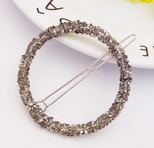 Load image into Gallery viewer, Rhinestone Round Hair Pin - 1 Piece