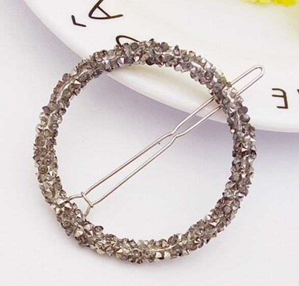 Rhinestone Round Hair Pin - 1 Piece