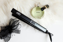 Load image into Gallery viewer, MATT BLACK  NAV's HAIR TITANIUM + SMART TECHNOLOGY STYLING IRON-NEW ARRIVAL