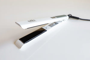 WHITE NAV's HAIR TITANIUM + SMART TECHNOLOGY STYLING IRON-NEW ARRIVAL