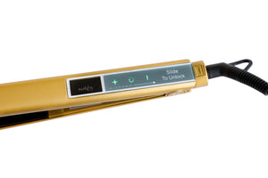 GOLD NAV's HAIR TITANIUM + SMART TECHNOLOGY STYLING IRON-NEW ARRIVAL