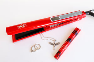 RED NAV's HAIR TITANIUM + SMART TECHNOLOGY STYLING IRON-NEW ARRIVAL