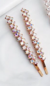 Crystal Rhinestone Hair Pin - Set of 2