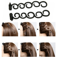 Load image into Gallery viewer, Flower Magic Hair Clip Stylist Queue Twist Plait DIY Hairstyle Styling