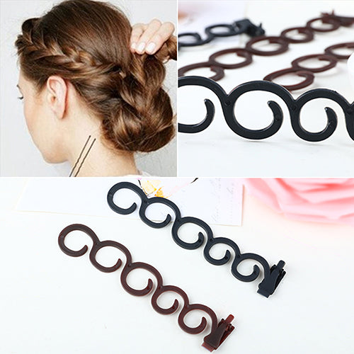 Flower Magic Hair Clip Stylist Queue Twist Plait DIY Hairstyle Styling