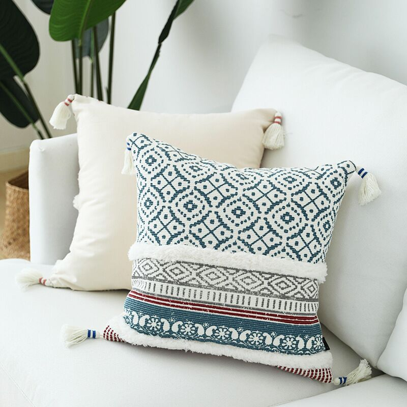 Tassels Moroccan Style Cushion Cover