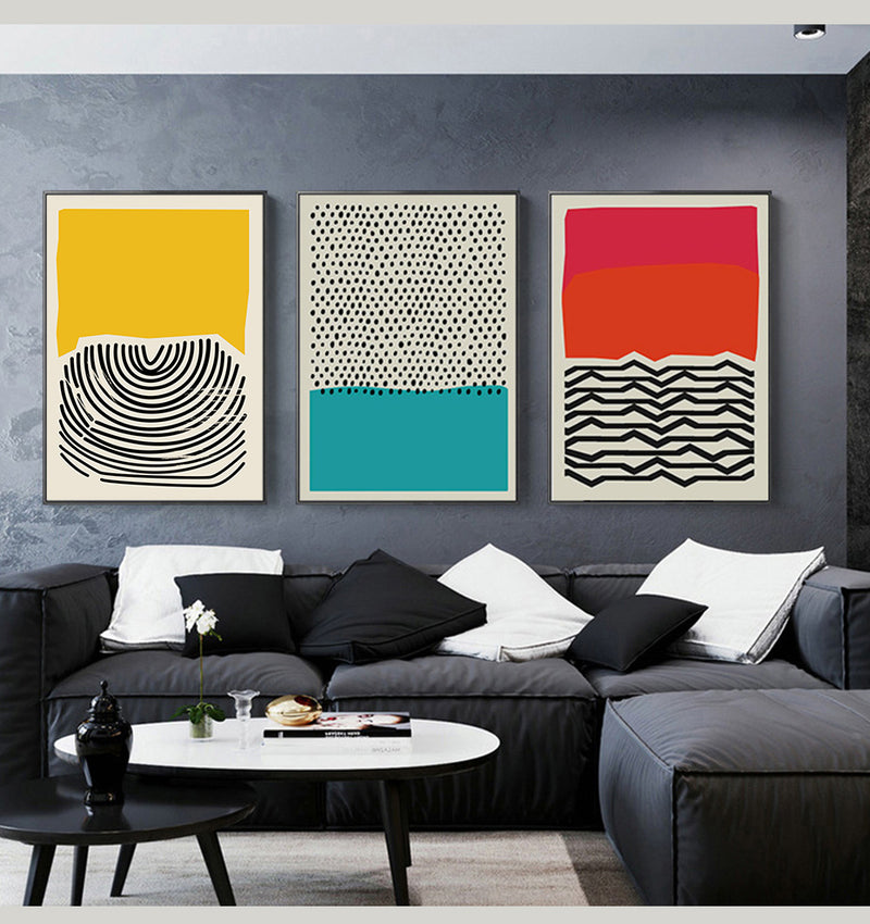 Multicoloured Geometric Abstract Wall Art