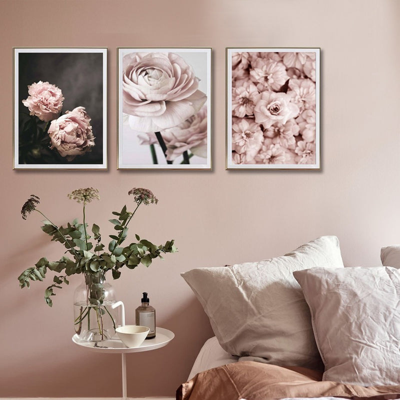Selim Pink Flower Canvas