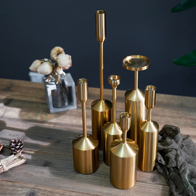 Metal Gold Plated Candle Holders