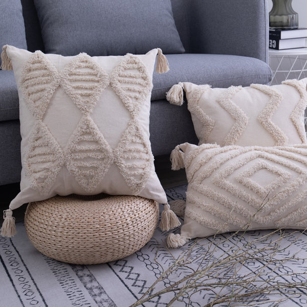 Handmade Tassels Cushion Cover