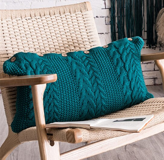 Solid Knit Cushion Cover