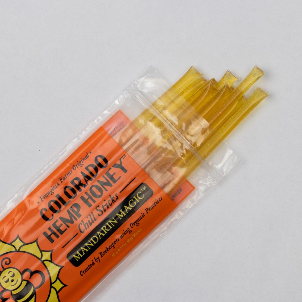 CBD Honey | Colorado Hemp Honey Chill Sticks (15mg CBD Each) [10 Pack]