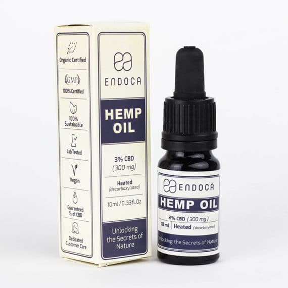 Endoca – Hemp Oil Drops (300mg CBD)