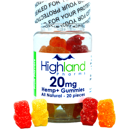 NEW FORMULA!  –  All Natural Gummies – 20mg PER PIECE!