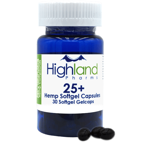 Highland Pharms 25+ – Hemp Softgel Capsules 25mg, 30ct