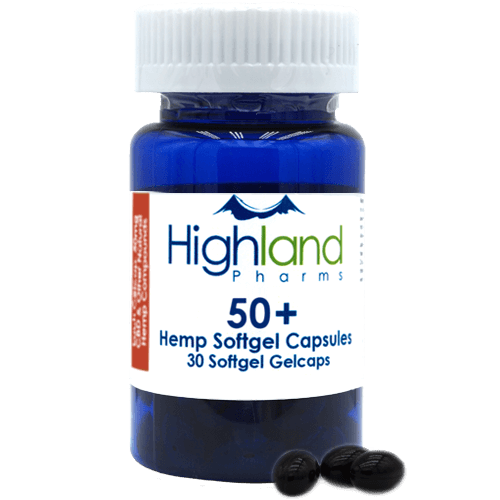 Highland Pharms 50+ – Hemp Softgel Capsules 50mg -30ct