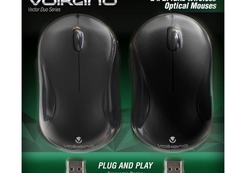 Volkano Vector Duo Pack Vector Wireless Mouse