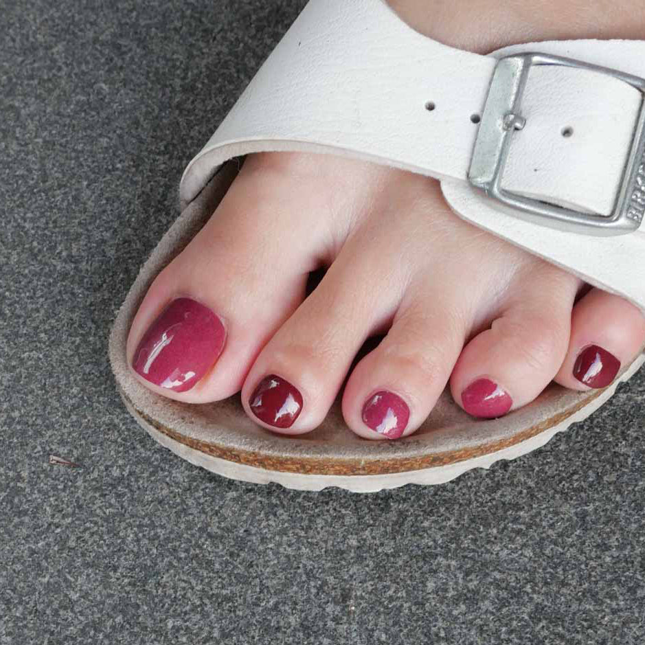 Maroon Colour Chart Pedicure