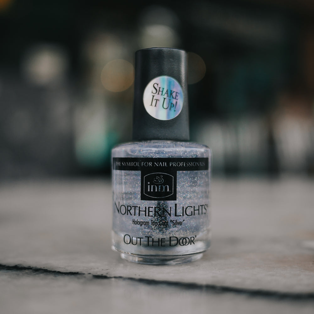 Out The Door Hologram Silver Top Coat