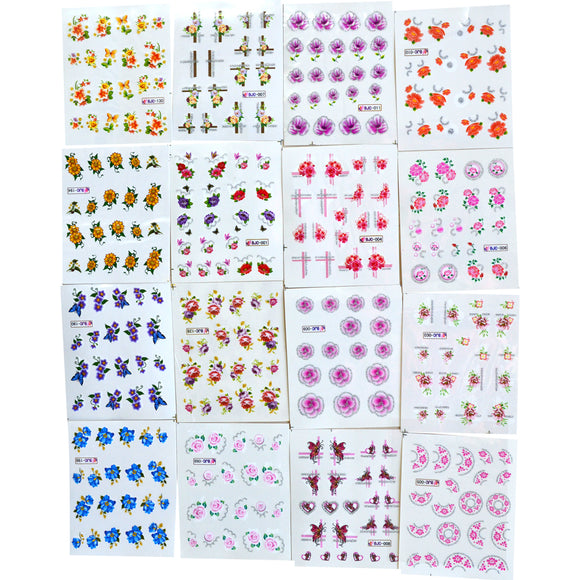 Nails art, lot de 55 feuilles d'autocollants pour ongles.