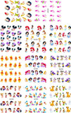 Nails art, lot de 11 feuilles, disney, princesse de dessin animé, autocollants pour ongles.