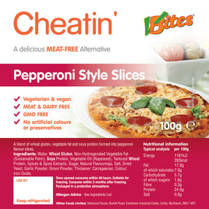 Cheatin Pepperoni Slices 100g (COLD)