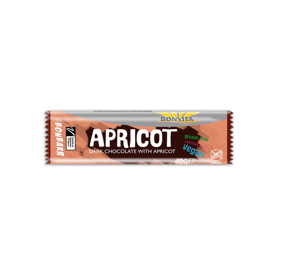 Organic Apricot Chocolate Candy Bar 40g