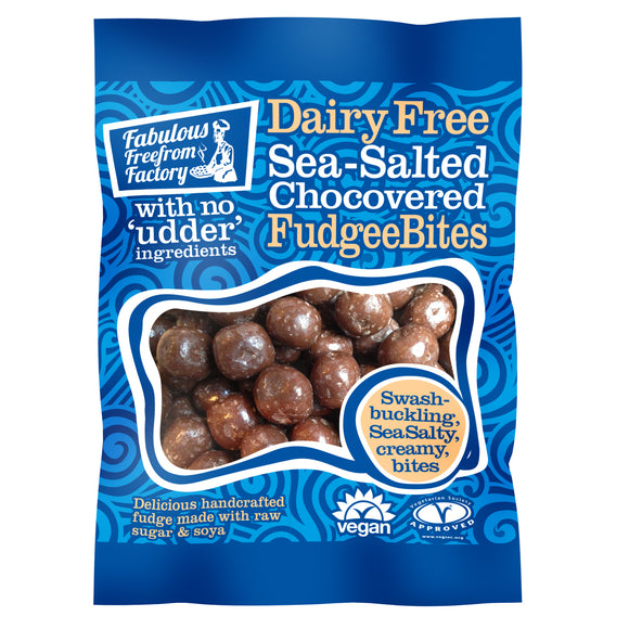 Sea Salted Choc Covered Vanilla Fudge Bites 65g