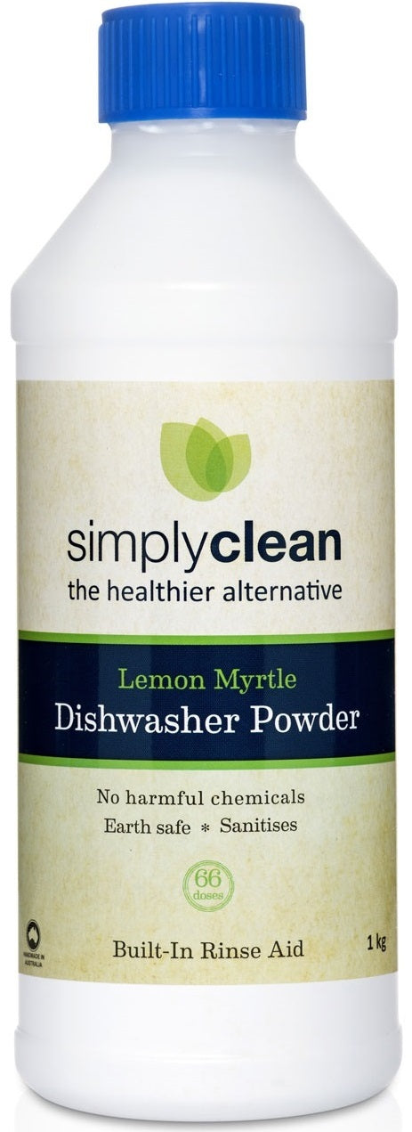 Lemon Myrtle Dishwasher Powder with Built In Rinse Aid 1 Kg