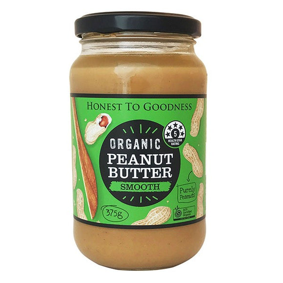 Organic Peanut Butter Smooth 375g