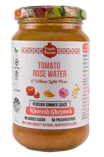 Tomato Rose Water & Yellow Split Peas Persian Simmer Sauce