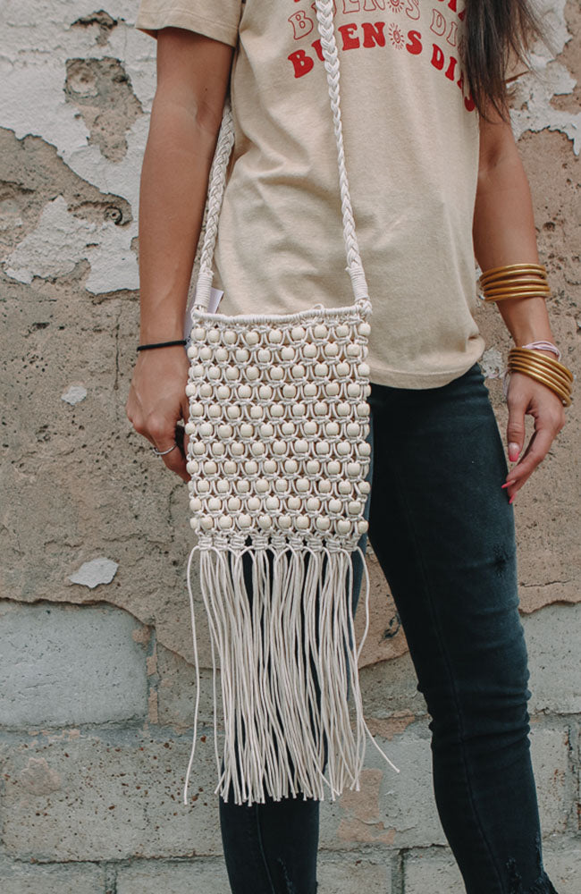 Beaded Fringe Bag