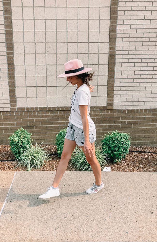Blush Over Sized Panama Hat