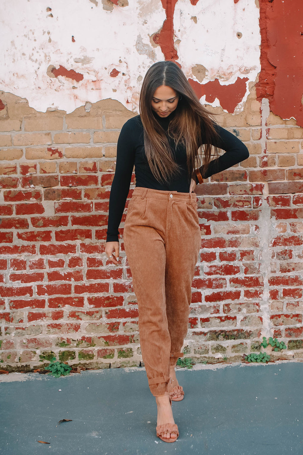 Corduroy High Waisted Trouser