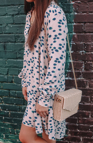 Dotted Almond Mix Dress