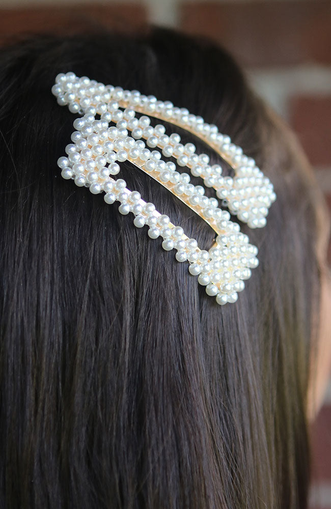 Open Pearl Hair Pins