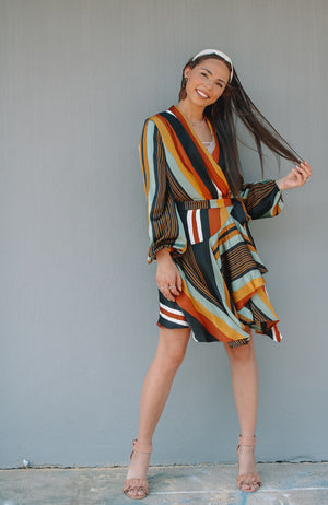 Multi Tone Striped Dress