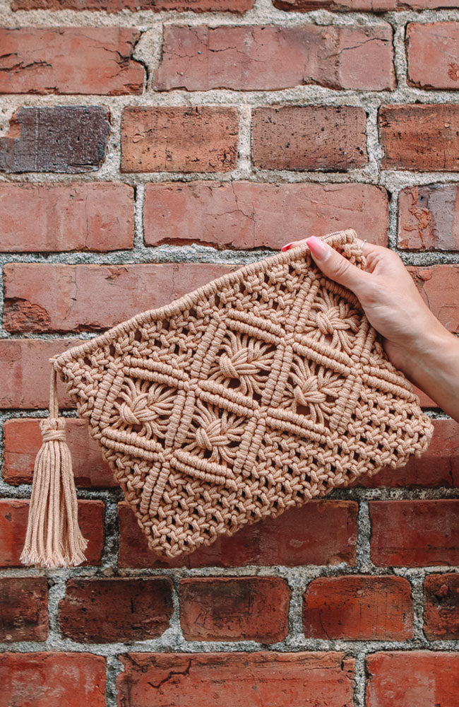 Straw Detail Bag
