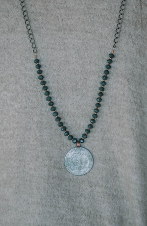 Bez Beaded Coin Necklace