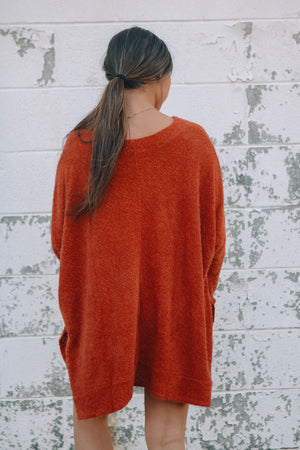 Brick Oversized Slit Top