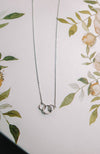 Linked Hoop Charm Necklace