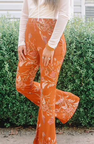 Floral Print Pocket Pants