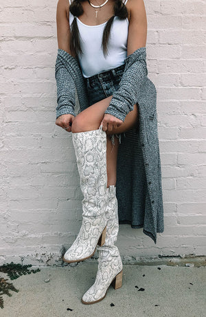 Snake Over the Knee Boot