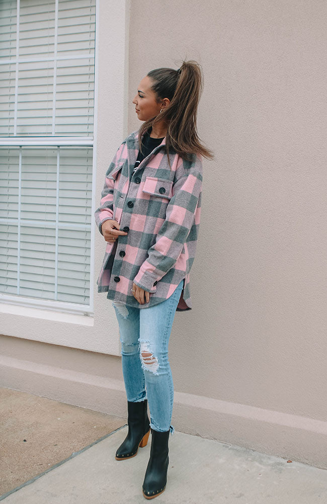 Pink Plaid Retro Jacket