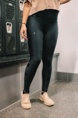 Black Star Foil Leggings