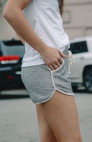 Hacci Striped Lounge Shorts